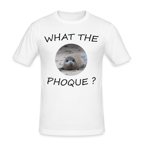 WHAT THE PHOQUE - Tee shirt près du corps Homme