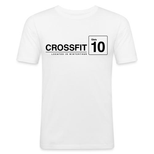 CrossFit_Gleis_10_Logo_1_Black - Männer Slim Fit T-Shirt