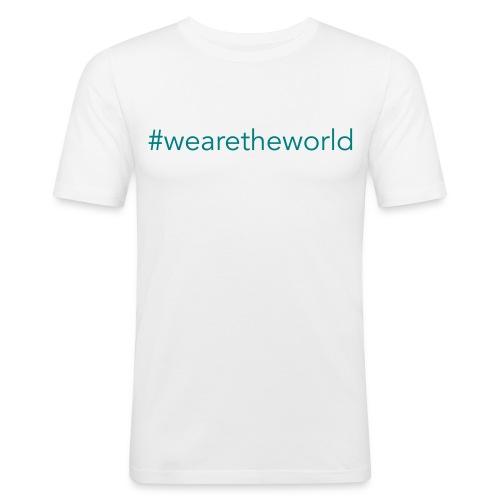 #wearetheworld - Männer Slim Fit T-Shirt