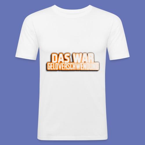 Geldverschwendung - Männer Slim Fit T-Shirt