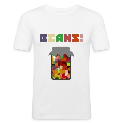 BEANS!!!! - Men's Slim Fit T-Shirt