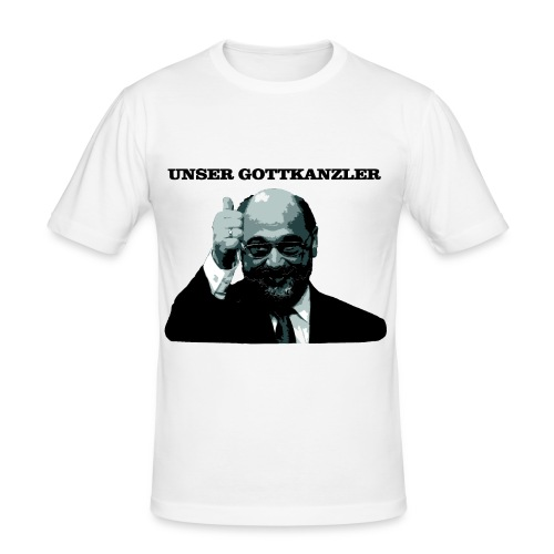 Gottkanzler Schulz - Männer Slim Fit T-Shirt