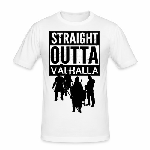 Straight Outta Valhalla - Slim Fit T-shirt herr