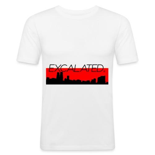 Excalated Skyline - Männer Slim Fit T-Shirt