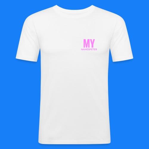 MYNAMESPEter - Men's Slim Fit T-Shirt
