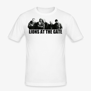 LIONS AT THE GATE SHIRT (WHITE) - slim fit T-shirt