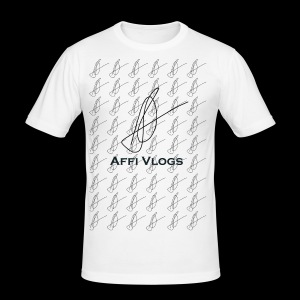 Affi Vlogs All over Tee - Männer Slim Fit T-Shirt
