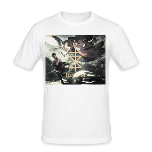 NEMESIS BEATZ: GODDESS - Männer Slim Fit T-Shirt