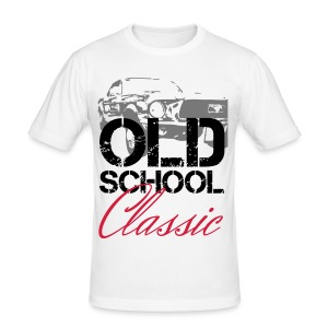 OLDSCHOOL Classic Muscle Car - Männer Slim Fit T-Shirt