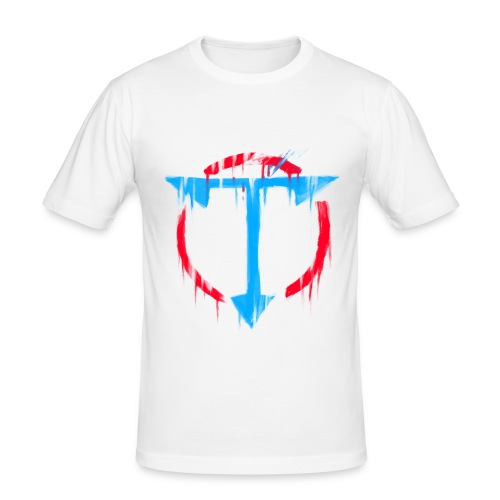 Graffiti OrdinaryTuber Logo - Men's Slim Fit T-Shirt