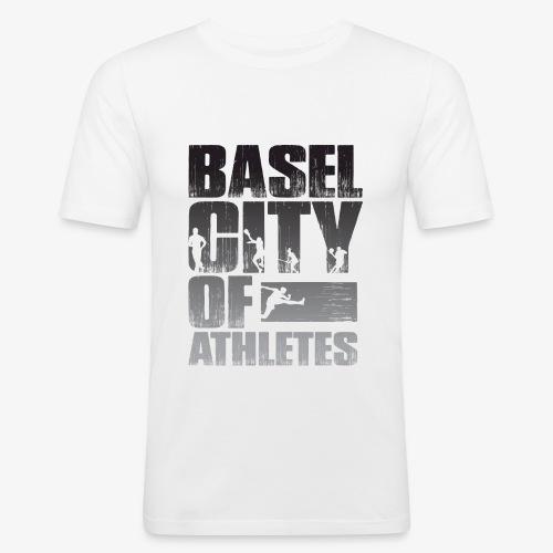 Basel City of Athletes B/W - Männer Slim Fit T-Shirt