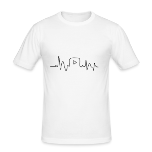Youtube Heartbeat - slim fit T-shirt