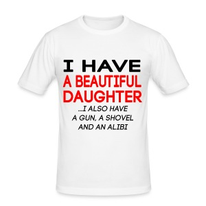 beautiful_daughter - Slim Fit T-skjorte for menn