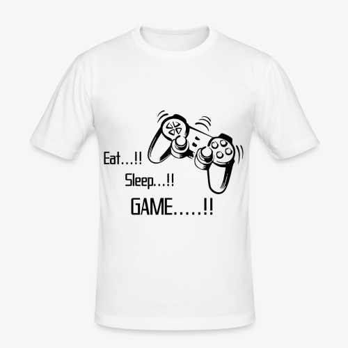 eat sleep game joy pad - Men's Slim Fit T-Shirt