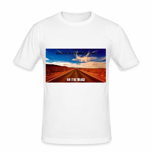 Enjoy a perfect life - On the Road - T-shirt près du corps Homme