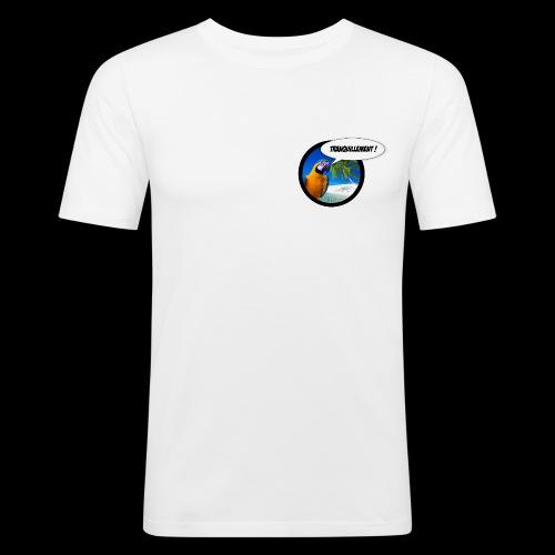 Insolent Tranquillement - T-shirt près du corps Homme