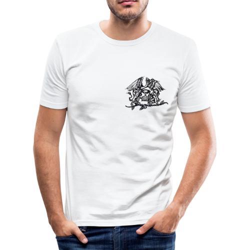 Logo QUEEN noir - T-shirt près du corps Homme