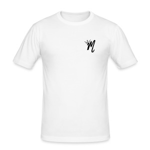 ItzManzey (OFFICIAL WHITE TOPS AND HOODIES) - Men's Slim Fit T-Shirt