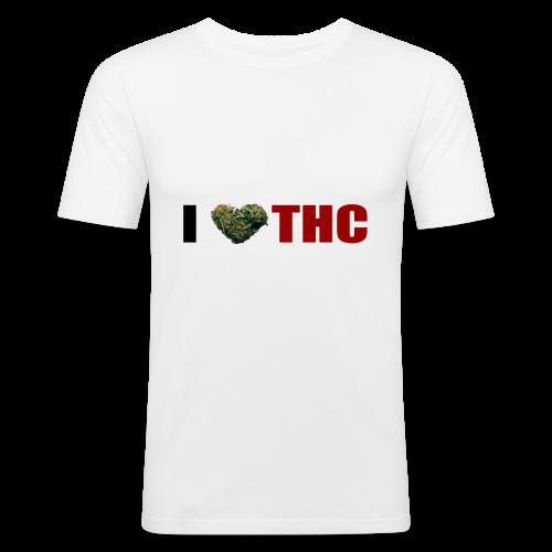 I love THC - Männer Slim Fit T-Shirt