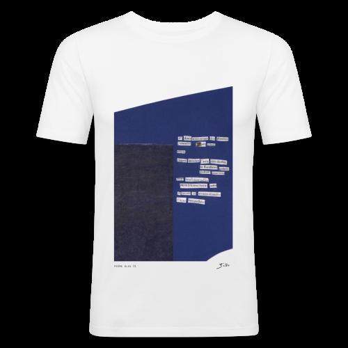 poème bleu 01 - Tee shirt près du corps Homme