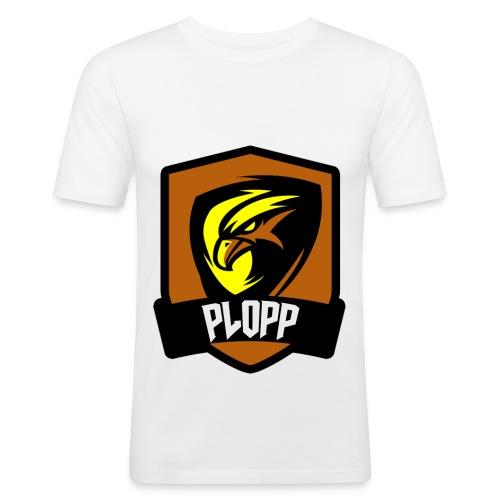 Plopp T-Shirt Emblem Vit - Slim Fit T-shirt herr