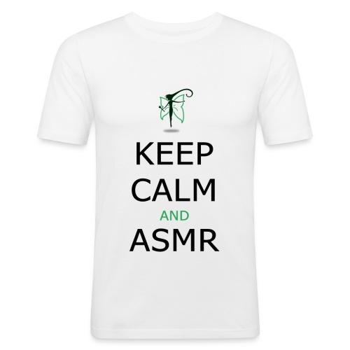 KEEP CALM AND ASMR - Maglietta aderente da uomo