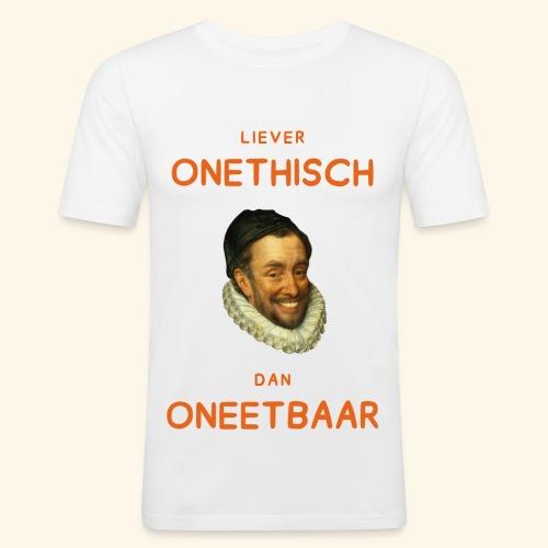 Liever onethisch dan oneetbaar - slim fit T-shirt