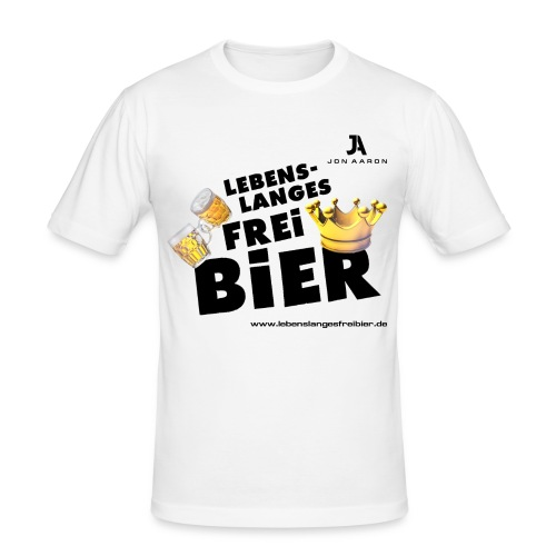Lebenslanges Freibier - Männer Slim Fit T-Shirt