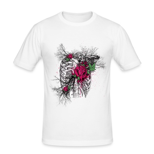 Rose Chest - Männer Slim Fit T-Shirt