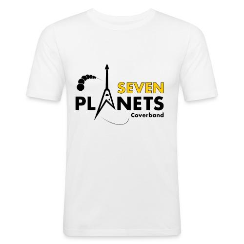 Seven Planets Logo - Männer Slim Fit T-Shirt