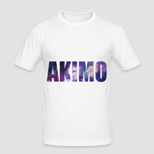 AKIMO Basic Galaxy - Männer Slim Fit T-Shirt