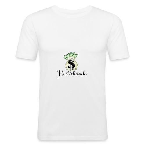 Hustlebande Logo - Männer Slim Fit T-Shirt