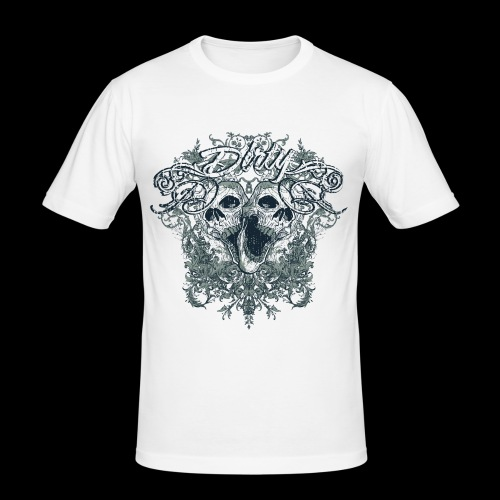 Dirty Totenkopf Gothic T-Shirt - Männer Slim Fit T-Shirt
