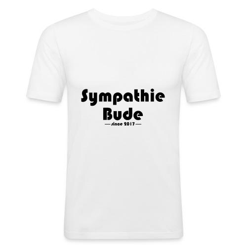 Sympathiebude Schriftzug schwarz - Männer Slim Fit T-Shirt
