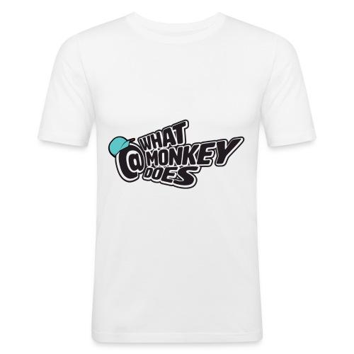 What Monkey Does Instagram Logo - Men's Slim Fit T-Shirt