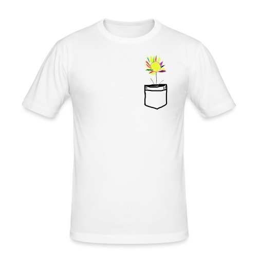 Brusttasche mit ewiger Blume - Männer Slim Fit T-Shirt