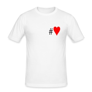 Hashtag Heart - Men's Slim Fit T-Shirt