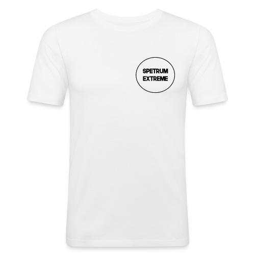 Front white Tee - Men's Slim Fit T-Shirt