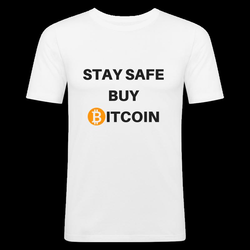stay safe buy bitcoin - Männer Slim Fit T-Shirt