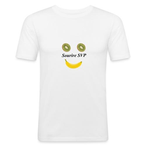 Lächeln Gesund lächeln - Männer Slim Fit T-Shirt