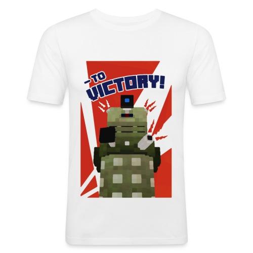 Dalek Mod - To Victory - Men's Slim Fit T-Shirt