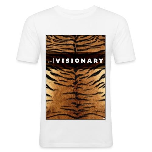 PRTCTANIMAL - Tiger | Im visionary - Men's Slim Fit T-Shirt