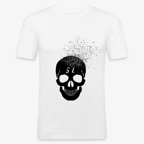 Skull esplosione - Maglietta aderente da uomo
