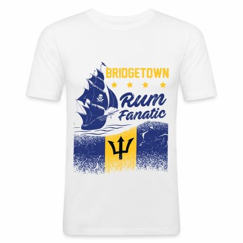 T-shirt Rum Fanatic - Bridgetown - Barbados - Obcisła koszulka męska