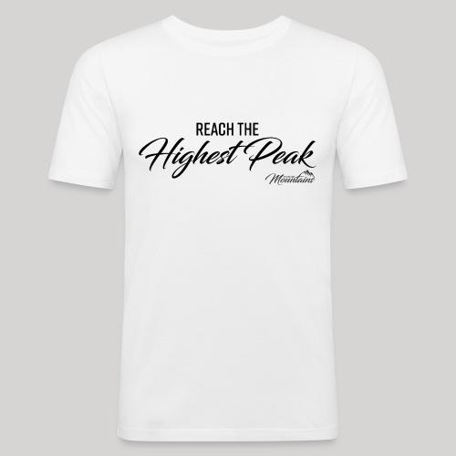 Highest peak - Männer Slim Fit T-Shirt
