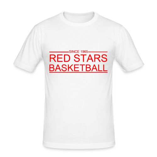 red stars basketball - slim fit T-shirt