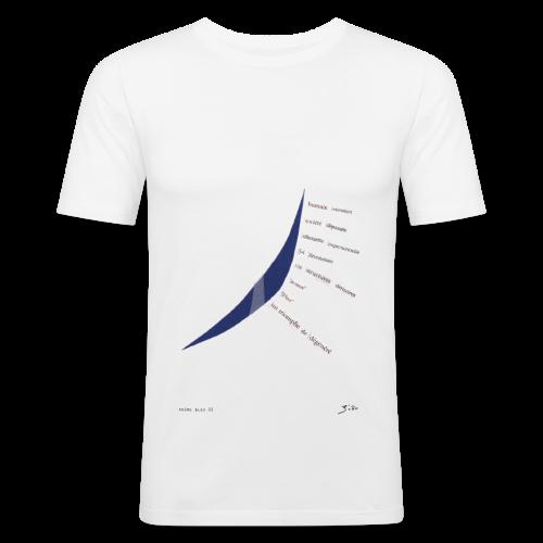 poème bleu 02 - Tee shirt près du corps Homme