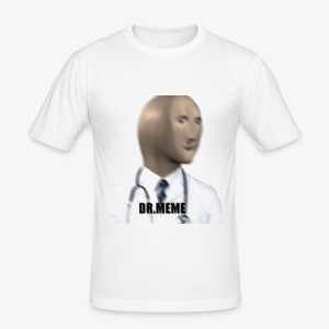 dr meme logo - Men's Slim Fit T-Shirt