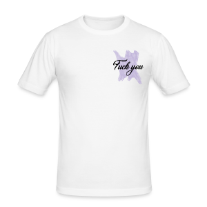 F*** You Lilac - Men's Slim Fit T-Shirt