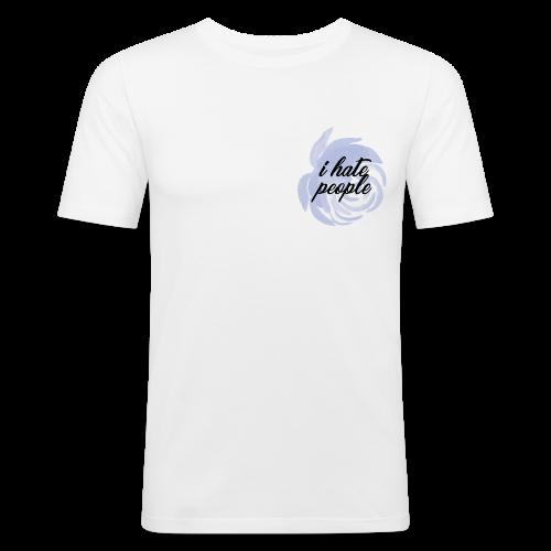 I Hate People Blue - Men's Slim Fit T-Shirt